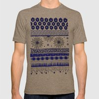 Yzor pattern 007-2 blue Mens Fitted Tee Tri-Coffee SMALL
