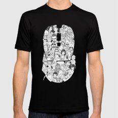 Adulthood Mash-Up Mens Fitted Tee Black SMALL