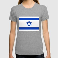 The National flag of the State of Israel Womens Fitted Tee Tri-Grey SMALL
