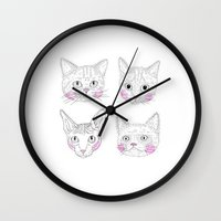 Cats Wall Clock