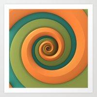 Tri-Color Swirl Art Print