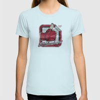 Hadouken! Womens Fitted Tee Light Blue SMALL
