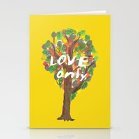 love only Stationery Cards