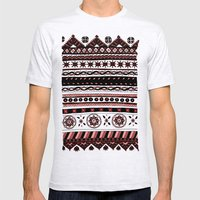 Yzor pattern 005 02 Mens Fitted Tee Ash Grey SMALL