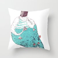 sad fat and ugly Throw Pillow