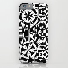 Black and White Square 1 Slim Case iPhone 6s