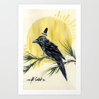 Dapper Raven Art Print