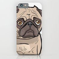 iPhone & iPod Case featuring Fat Pug by BinaryGod.com
