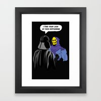 Vader Skeletor I Find Yo… Framed Art Print