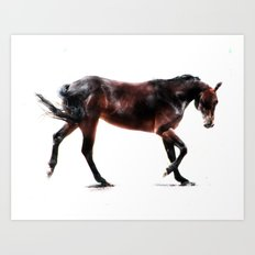 The Dancing Horse Art Print