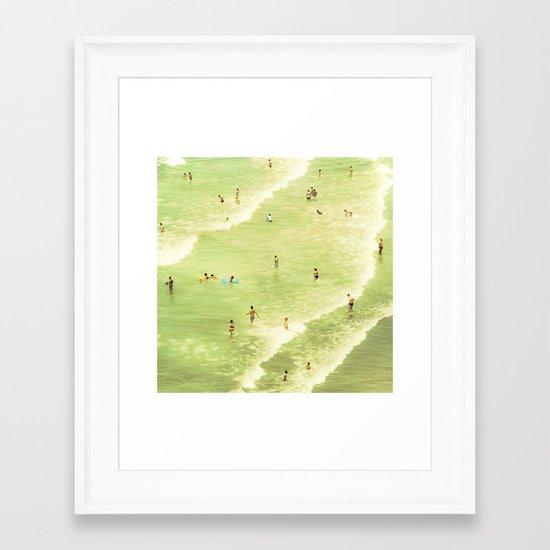 Let's Go Swimming Framed Art Print