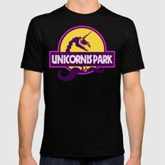 Unicornis Park Black Mens Fitted Tee SMALL