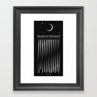 2015 Moon Calendar Framed Art Print