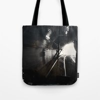 Black and White San Francisco Doboce Tunnel Tote Bag