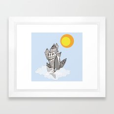 Castle in the sky Framed Art Print