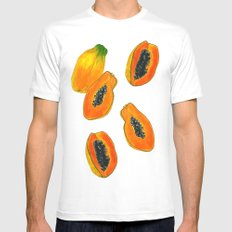 Midnight Papaya Mens Fitted Tee White SMALL