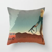 The Man With The Golden … Throw Pillow