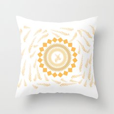 Leaf Mandala Throw Pillow