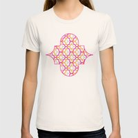 Moroccan Trellis Overlap… Womens Fitted Tee Natural SMALL