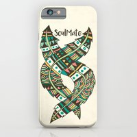 feathers iPhone & iPod Cases featuring Soulmate Feathers by Pom Graphic Design