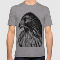 Hawk, V8 Stripped Mens Fitted Tee Athletic Grey SMALL
