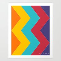 Chevron Chic  Art Print