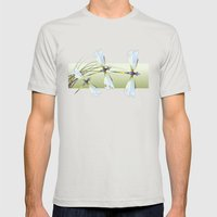 Dragonflies Mens Fitted Tee Silver SMALL