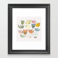 Owlz Framed Art Print