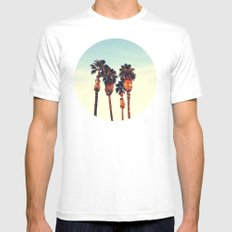 California Sunset White Mens Fitted Tee SMALL