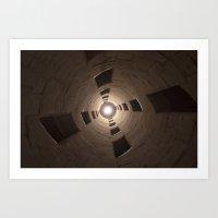 Chambord Castle - Stairs Art Print