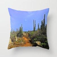 Desert Pathway Throw Pillow
