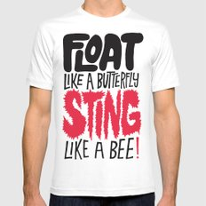 Muhammad Ali: Float Like a Butterfly Sting Like a Bee Mens Fitted Tee White SMALL