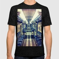 Empty tube- Victoria Line Mens Fitted Tee Tri-Black SMALL