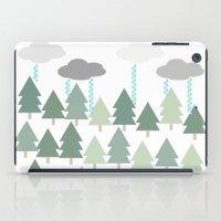 Pacific Northwest Tree and Rain Scene - Portland, PDX, Seattle, Washington, Oregon iPad Case