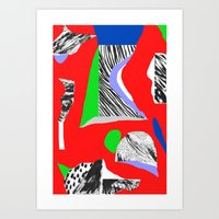Mountain expedition Art Print
