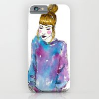 Fashion Illustration - Girl with a Sweater iPhone 6 Slim Case