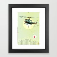 Glue Network Print Serie… Framed Art Print
