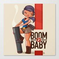 Boom Beach Fan Art - Zooka Canvas Print