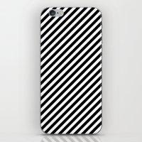Classic Stripes Black + White iPhone & iPod Skin
