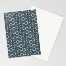 Bluish Grey Hex Stationery Cards