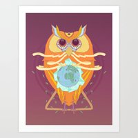 Making a nest for the rest of us. Art Print