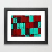 Import / Export Framed Art Print