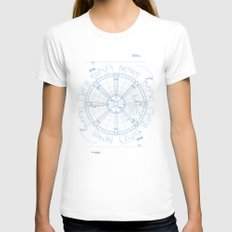 Project Midgar Womens Fitted Tee White SMALL