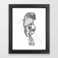 Mask 02 Framed Art Print