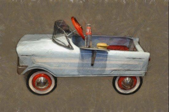 Tee Bird Pedal Car Art Print