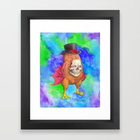 You Don't Want To Know What's Under The Hat Framed Art Print