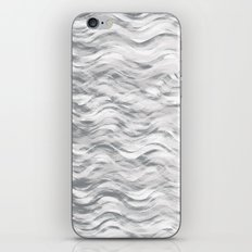 Silver Waves iPhone & iPod Skin