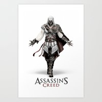 Ezio Auditore from Assassin's Creed - Color Sketch Work Art Print