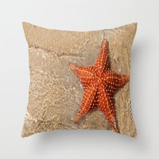 Photography - Beach - Starfish -Ocean  Throw Pillow