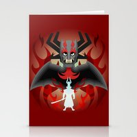 I'm the DK now samurai Jack Stationery Cards